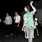 Ryan Gosling with his band on Sunday after a performance in LA 47053