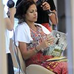 Eva Mendes gets her hair done in Thailand 106311