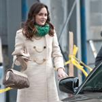 Leighton Meester on the set of Gossip Girl in New York February 2011 80544