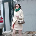 Leighton Meester on the set of Gossip Girl in New York February 2011 80546