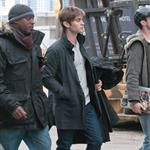 Chace Crawford on the set of Gossip Girl in New York February 2011 80548