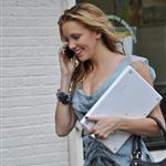 Katie Cassidy on the set of Gossip Girl  70582