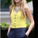 Blake Lively works on Gossip Girl in New York 67286