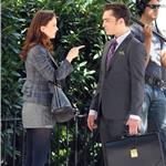 Leighton Meester Ed Westwick shoot Gossip Girl in New York 69364