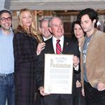Josh Safran, Kelly Rutherford, Blake Lively, New York City Mayor Michael R. Bloomberg, Penn Badgley, Matthew Settle at The Mayoral proclamation in celebration of the Gossip Girl 100th episode at Silver Cup Studios in New York City 103907
