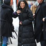 Jessica Szohr in grey silver Hunter boots on Gossip Girl set 77770