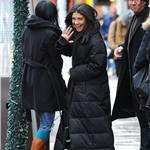 Jessica Szohr in grey silver Hunter boots on Gossip Girl set 77771