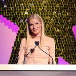Gwyneth Paltrow presents to Christy Turlington at the Shine On Awards  83110