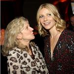 Gwyneth Paltrow and Blythe Danner at a Food Bank event in New York April 2008 75196