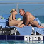 Kelsey Grammer and Kayte Walsh PDA gross in Miami  79518