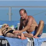 Kelsey Grammer and Kayte Walsh PDA gross in Miami  79522
