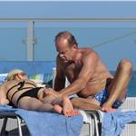 Kelsey Grammer and Kayte Walsh PDA gross in Miami  79525
