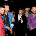 Guy Berryman (front left) and Coldplay at Grammy Awards 2009 32436
