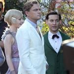 Leonardo DiCaprio, Carey Mulligan and Tobey Maguire on the set of The Great Gatsby 98718