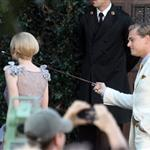 Leonardo DiCaprio and Carey Mulligan on the set of The Great Gatsby  98730