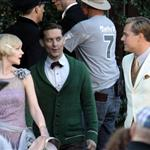 Leonardo DiCaprio, Carey Mulligan and Tobey Maguire on the set of The Great Gatsby 98731
