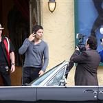 Adrian Grenier shoots a new season of Entourage with short hair 58962