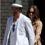 Robert Downey Jr at Memorial Day party in Malibu with his wife 86486
