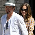 Robert Downey Jr at Memorial Day party in Malibu with his wife 86487