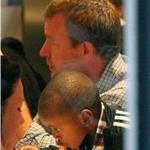 Guy Ritchie with Rocco and David Banda at Wagamama for dinner  68124