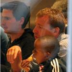Guy Ritchie with Rocco and David Banda at Wagamama for dinner  68125