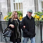 Guy Ritchie and pregnant Jacqui Ainsley leaving the Kabbalah Centre in London  83496