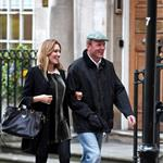 Guy Ritchie and pregnant Jacqui Ainsley leaving the Kabbalah Centre in London  83497