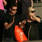 Gwen Stefani and Gavin Rossdale cheer for Roger Federer during early round at Wimbledon 21849