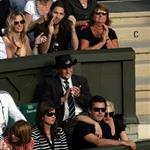 Gwen Stefani and Gavin Rossdale cheer for Roger Federer during early round at Wimbledon 21846