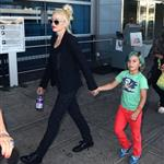 Gwen Stefani with her son Kingston at JFK Airport  121751