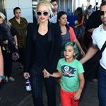 Gwen Stefani with her son Kingston at JFK Airport  121753