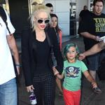 Gwen Stefani with her son Kingston at JFK Airport  121754