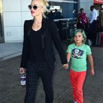 Gwen Stefani with her son Kingston at JFK Airport  121757