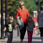 Gwyneth Paltrow with Apple and Moses at a playground in New York 96409