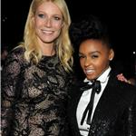 Gwyneth Paltrow with Janelle Monae at Grammy Awards 2011  79044