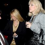 Gwyneth Paltrow and Courtney Love leaving dinner at The Cut in 2007 86229