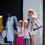 Gwyneth Paltrow out in London with her daughter Apple Martin and some friends 115979