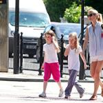 Gwyneth Paltrow out in London with her daughter Apple Martin and some friends 115981