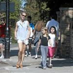 Gwyneth Paltrow out in London with her daughter Apple Martin and some friends 115983