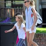 Gwyneth Paltrow out in London with her daughter Apple Martin and some friends 115992