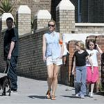 Gwyneth Paltrow out in London with her daughter Apple Martin and some friends 115997