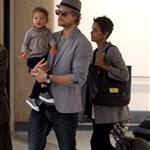 Halle Berry Gabriel Aubry and baby Nahla arrive in LA 50115