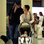 Halle Berry and Gabriel Aubry at LAX with baby Nahla 42228