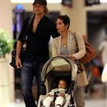 Halle Berry and Gabriel Aubry at LAX with baby Nahla 42229