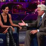 Halle Berry shows she's not pregnant on Jay Leno 47198