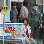 Halle on set on East Hastings on final day of shooting 29186