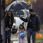 Katie Holmes and Connor Cruise take Suri trick or treating  97426
