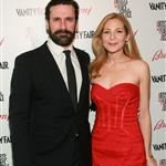 Jon Hamm and Jennifer Westfeldt pose with Gerard Butler at Artists for Peace & Justice 56028