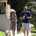 Jon Hamm walking dog with Jennifer Westfeldt 69542