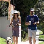 Jon Hamm walking dog with Jennifer Westfeldt 69545